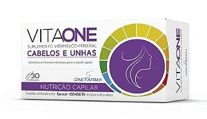 VitaOne Suplemento Vitamínico-Mineral Nutrição para Cabelos e Unhas 30 Cápsulas