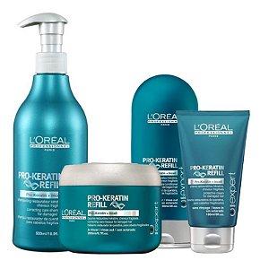 L'Oréal Professionnel Pro Keratin Kit Shampoo + Condicionador + Máscara + Leave-in