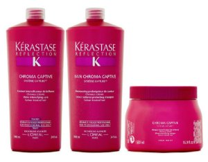 Kérastase Refléction Chroma Captive Kit Bain 1L + Fondant 1L + Masque 500g