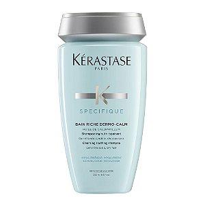 Kérastase Spécifique Bain Riche Dermo-Calm Shampoo Couro Sensível Cabelos Secos - 250ml