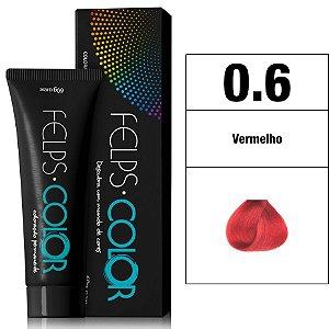 Felps Color Coloração Permanente - 0.6 - Vermelho
