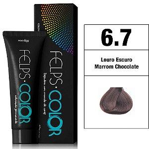 Felps Color Coloração Permanente - 6.7 - Louro Escuro Marrom Chocolate