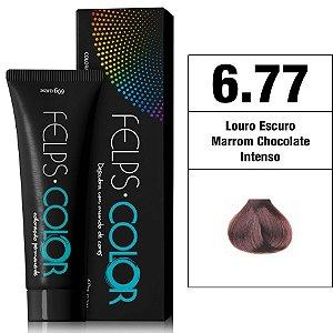 Felps Color Coloração Permanente - 6.77 - Louro Escuro Marrom Chocolate Intenso