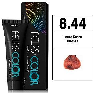 Felps Color Coloração Permanente - 8.44 - Louro Claro Cobre Intenso