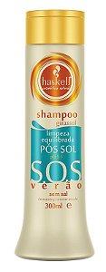 Haskell SOS Verão Shampoo Girassol Limpeza Equilibrada Pós Sol Sem Sal - 300ml
