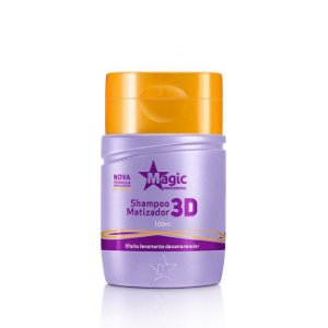 MAGIC COLOR Shampoo Matizador 3D Levemente Desamarelador 100ml (vencimento 10/20)