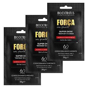 Bio Extatus Força Pimenta Kit com 3 Super Dose Desmaia Cabelo - 3x30g