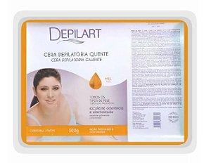 DEPILART Cera Depilatória Quente com Chocolate e Mel 500g