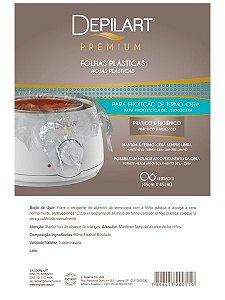 DEPILART Premium Folha plástica Proteção Termo-Cera - 06 Un