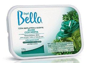 DEPIL BELLA Cera Depilatória Quente Algas com Menta 500g