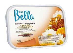 DEPIL BELLA Cera Depilatória Quente Camomila com Calêndula 500g