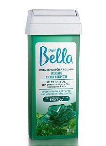 DEPIL BELLA Cera Depilatória Roll-on Algas com Menta 100g
