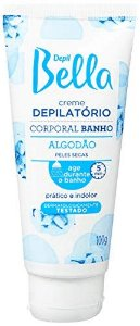 DEPIL BELLA Creme Depilatório Corporal Banho Algodão para Peles Secas 100g