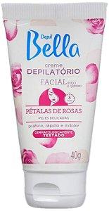 Depil Bella Creme Depilatório Facial Petálas de Rosas para Peles Delicadas 40g