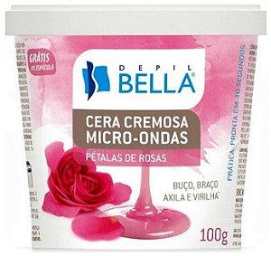DEPIL BELLA Cera Depilatória Cremosa Micro-Ondas Pétalas de Rosa 100g