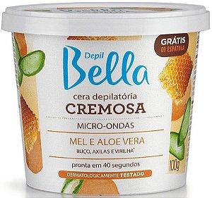 DEPIL BELLA Cera Depilatória Cremosa Micro-Ondas Mel e Aloe Vera 100g