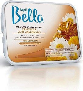 Depilbella Cera Depilatória Quente Camomila e Calendula - 1Kg