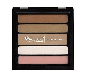 Max Love Paleta Sobrancelhas 01 Pele Clara - 13g