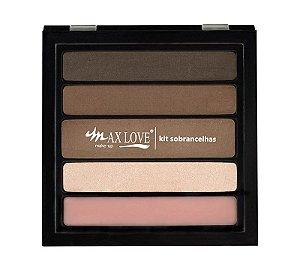 Max Love Paleta Sobrancelhas 03 Pele Escura - 13g