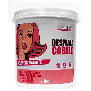 Glatten Desmaia Cabelo Mousse Hidratante - 1Kg