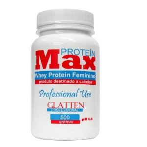 Glatten Max Protein Whey Feminino Máscara Capilar - 500g