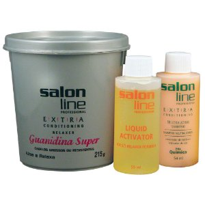 Salon Line Guanidina Extra Conditioning - Super cabelos Grossos ou Resistentes - 215g