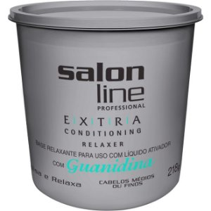Salon Line Guanidina Extra Conditioning - Regular Cabelos Médios ou Finos - 218g