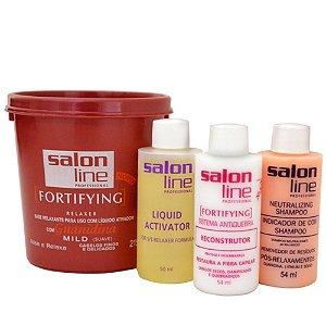 Salon Line Guanidina FortiFying - Mild Cabelos Finos e Delicados - 215g