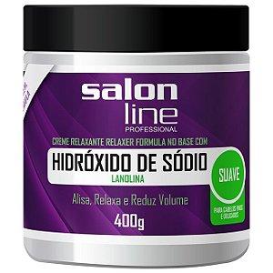 Salon Line Hidróxido Sódio Tradicional - Mild Cabelos Finos e Delicados - 400g
