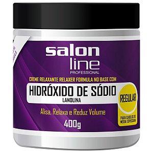 Salon Line Hidróxido Sódio Lanolina Regular Cabelos Média Espessura  400g