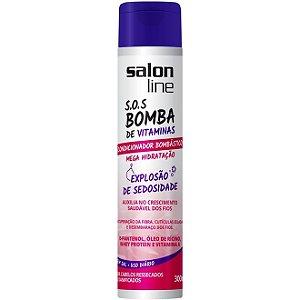 Salon Line SOS Bomba de Vitaminas Condicionador Bombástico - Explosão de Sedosidade - 300ml