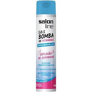 Salon Line SOS Bomba de Vitaminas Condicionador Leve - Explosão de Suavidade - 300ml
