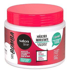 SALON LINE SOS Bomba Máscara Hidratante Cachos e Crespos 500g