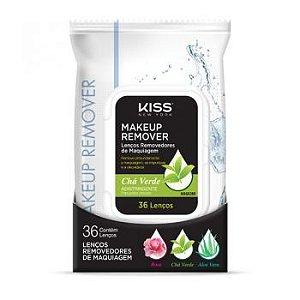 Kiss New York Lenço Demaquilante Chá Verde 36Un (MRG02BR)