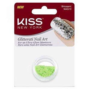 Kiss NY Nail Art Glitter para Unhas Shizaam! (NAG10)