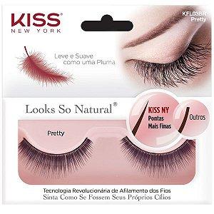 KISS NEW YORK Cílios Postiços Looks So Natural Pretty (KFL03BR)