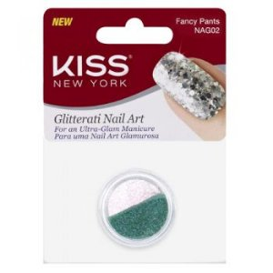 Kiss NY Nail Art Glitter para Unhas Fancy Pants (NAG02)