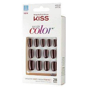 Kiss NY Salon Color Unhas Postíças Curta Vanity 28Un (KSC01BR)
