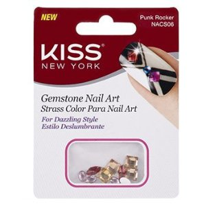 KISS NEW YORK Nail Art Strass para Unhas Pink Rocker (NACS06)