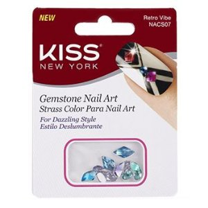 KISS NEW YORK Nail Art Strass para Unhas Retro Vibe (NACS07)