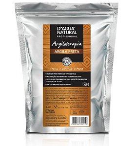 D'ÁGUA NATURAL Argiloterapia Natural Creme Argila Preta 500g