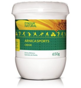 D'ÁGUA NATURAL Creme de Massagem Arnica Sports 650g