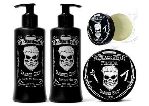 Black Fix Barber Shop Kit Masculino Cabelo e Barba Claros