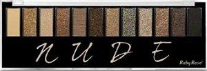 RUBY ROSE Paleta de Sombras Nude 12 Cores + 1 Primer HB-9911