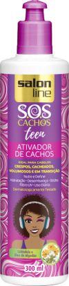 SALON LINE SOS Cachos Teens Ativador Cachos Umidificador 300ml