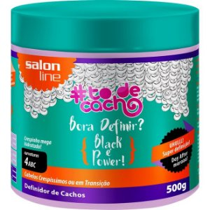 Salon Line #TODECACHO Definidor de Cachos Black Power - 500g