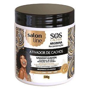 Salon Line SOS Cachos Arginina Ativador de Cachos Umidificador Reconstrução 500ml
