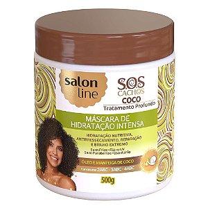 SALON LINE SOS Cachos Coco Máscara Capilar de Hidratação 500g