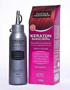 Kert Keraton Tonalizante Banho de Brilho - Fúscia - 100g