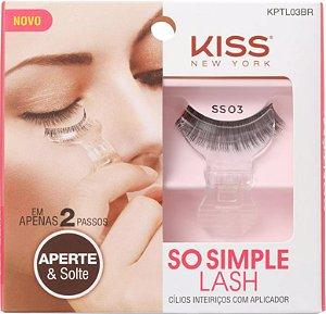 KISS NEW YORK Cílios Postiços Inteiriços com Aplicador So Simple Lash SS03 (KPTL03)